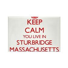 Keep calm you live in Sturbridge Massachus Magnets