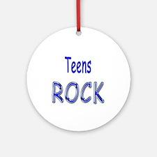 Teens Rock Ornament (Round)