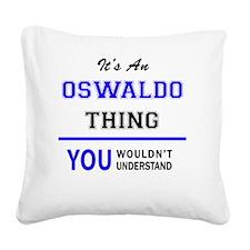 Cute Oswaldo Square Canvas Pillow