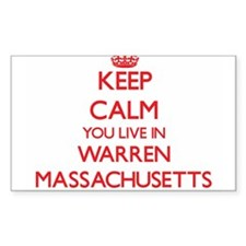 Keep calm you live in Warren Massachusetts Decal