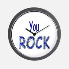 You Rock Wall Clock