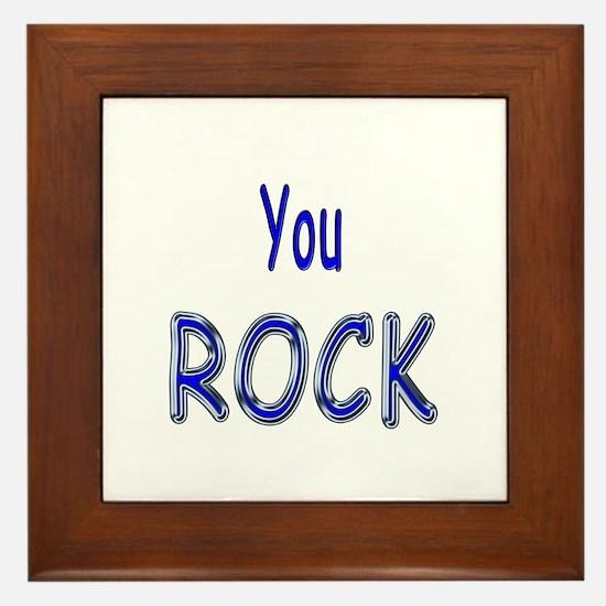 You Rock Framed Tile