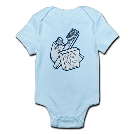 Toothbrush Toothpaste Floss Infant Bodysuit