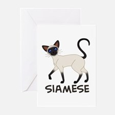 Seal Point Siamese Greeting Cards (Pk of 10)