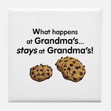 Stays at Grandmas! Tile Coaster