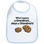 Stays at Grandmas! Bib