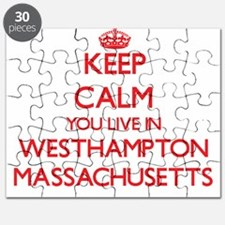 Keep calm you live in Westhampton Massachus Puzzle