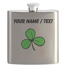 Custom Green Shamrock Flask