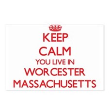 Keep calm you live in Wor Postcards (Package of 8)