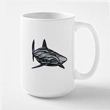 Shiny Embossed Tribal Shark Mugs