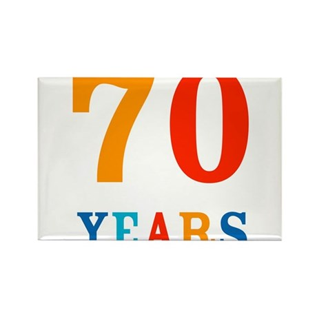 The 70th. Rectangle Magnet