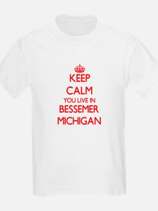 Keep calm you live in Bessemer Michigan T-Shirt