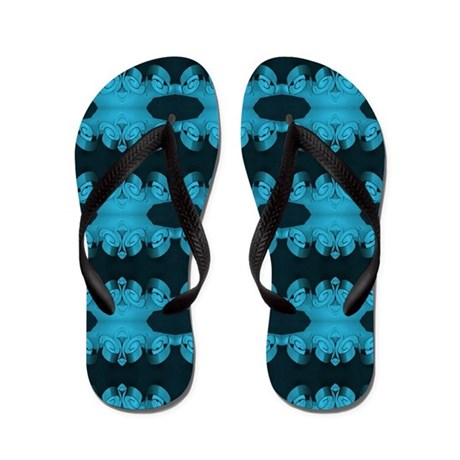 Black Flip Flops With Ribbons 3