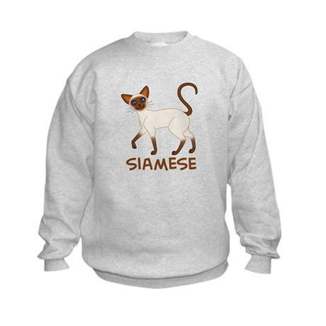 Choc. Point Siamese Kids Sweatshirt
