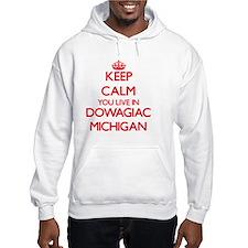 Keep calm you live in Dowagiac M Hoodie