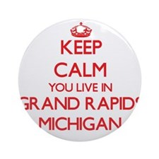 Keep calm you live in Grand Rapid Ornament (Round)