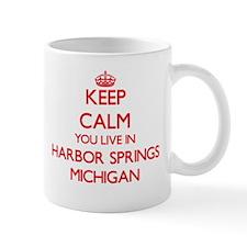 Keep calm you live in Harbor Springs Michigan Mugs