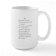 """Love is Patient"" Poem Mug"