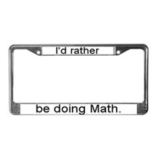 Math License Plate Frame