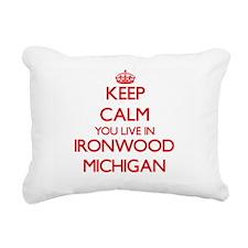 Keep calm you live in Ir Rectangular Canvas Pillow