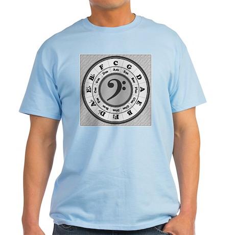 Bass Clef Circle of Fifths Light T-Shirt