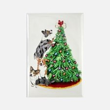 Corgi Christmas Rectangle Magnet