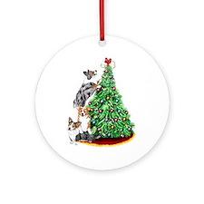 Corgi Christmas Ornament (Round)
