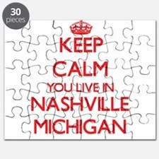 Keep calm you live in Nashville Michigan Puzzle