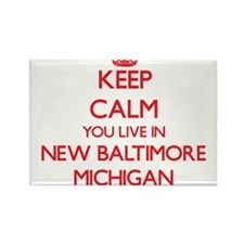 Keep calm you live in New Baltimore Michig Magnets
