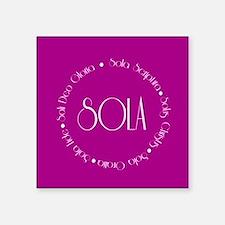 """5 Solas Square Sticker 3"""" x 3"""""""