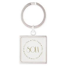 5 Solas Square Keychain