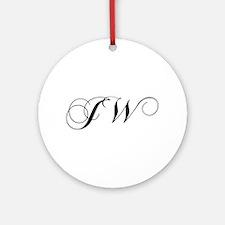 JW-cho black Ornament (Round)