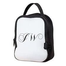 JW-cho black Neoprene Lunch Bag