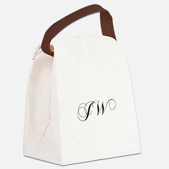 JW-cho black Canvas Lunch Bag