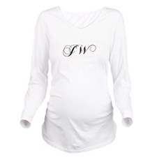 JW-cho black Long Sleeve Maternity T-Shirt