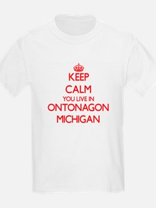 Keep calm you live in Ontonagon Michigan T-Shirt