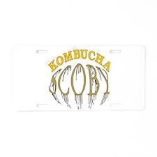 Kombucha Scoby Aluminum License Plate