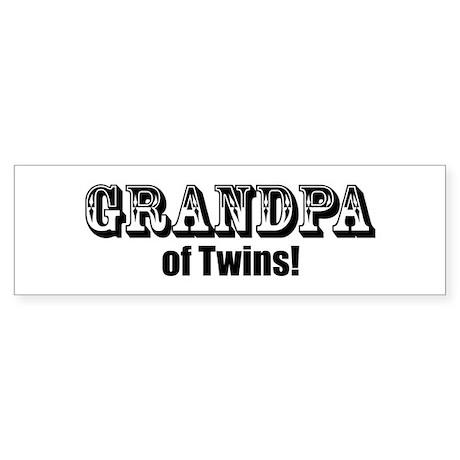 Grandpa of Twins Bumper Sticker