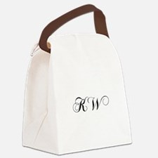KW-cho black Canvas Lunch Bag