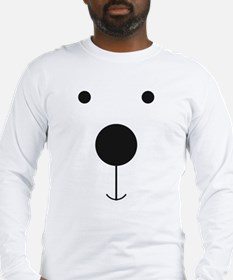 Minimalist Polar Bear Face Long Sleeve T-Shirt