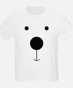 Minimalist Polar Bear Face T-Shirt