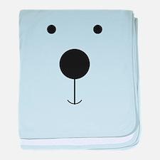 Minimalist Polar Bear Face baby blanket