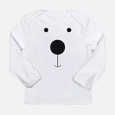Minimalist Polar Bear Face Long Sleeve T-Shirt
