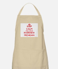 Keep calm you live in Riverview Michigan Apron