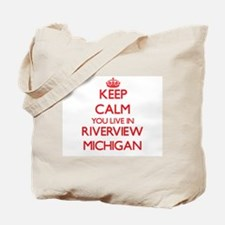 Keep calm you live in Riverview Michigan Tote Bag