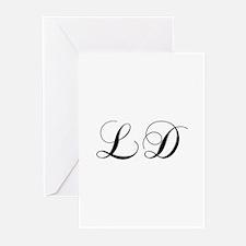 LD-cho black Greeting Cards