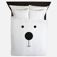 Minimalist Polar Bear Face Queen Duvet