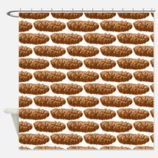 8 Bit Pixel Poop Shower Curtain