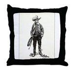 1920s Movie Cowboy Throw Pillow