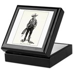 1920s Movie Cowboy Keepsake Box